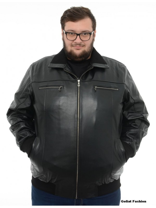 Geaca piele barbati marime mare gp2b